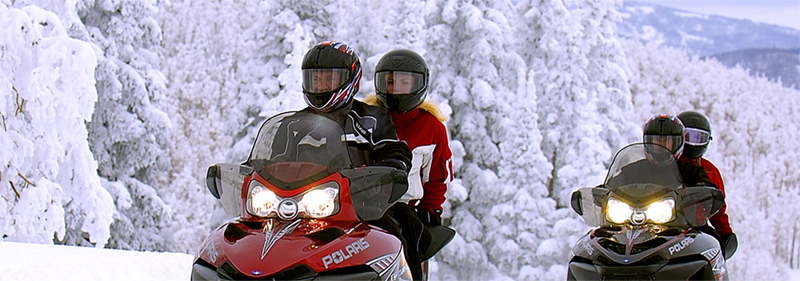 Snowmobiling at Mount Snow VT
