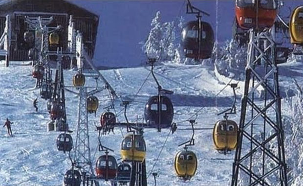 Mount Snow Retro Gondola Throw Back